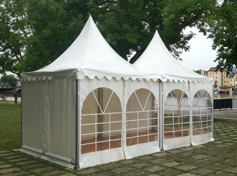 Pagode 6x3m mit Fenster